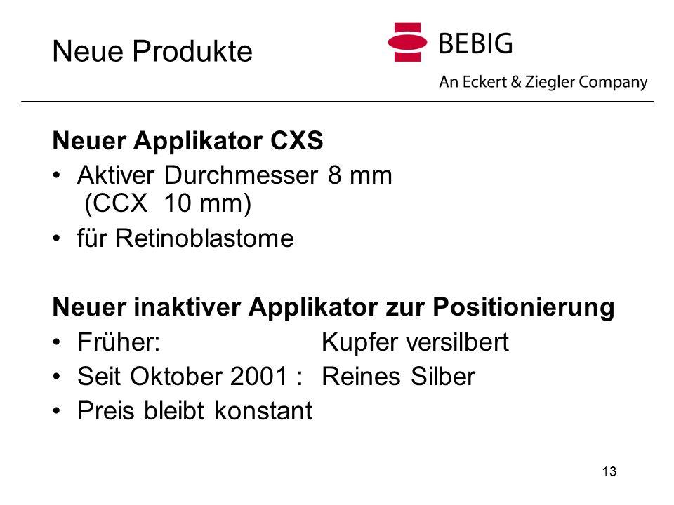 Neue Produkte Neuer Applikator CXS