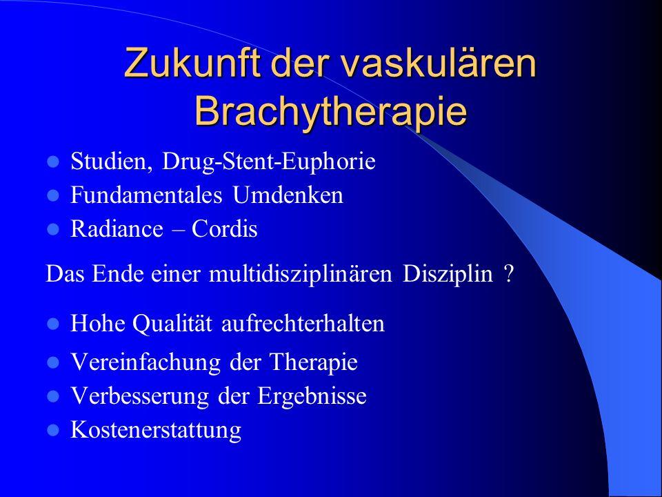 Zukunft der vaskulären Brachytherapie