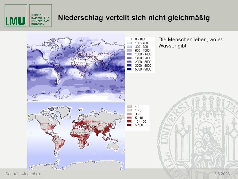 Niederschlag verteilt sich nicht gleichmäßig