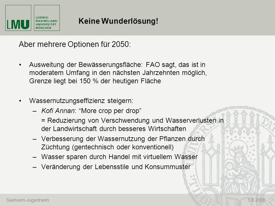 Aber mehrere Optionen für 2050: