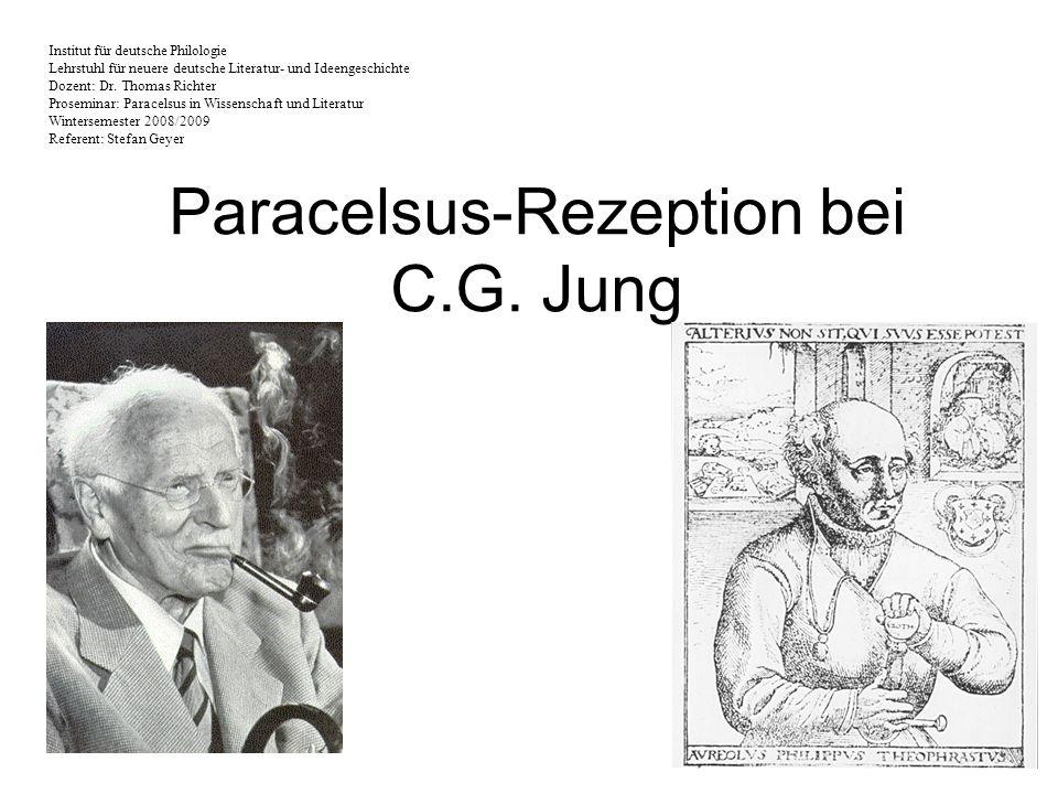 Paracelsus-Rezeption bei C.G. Jung