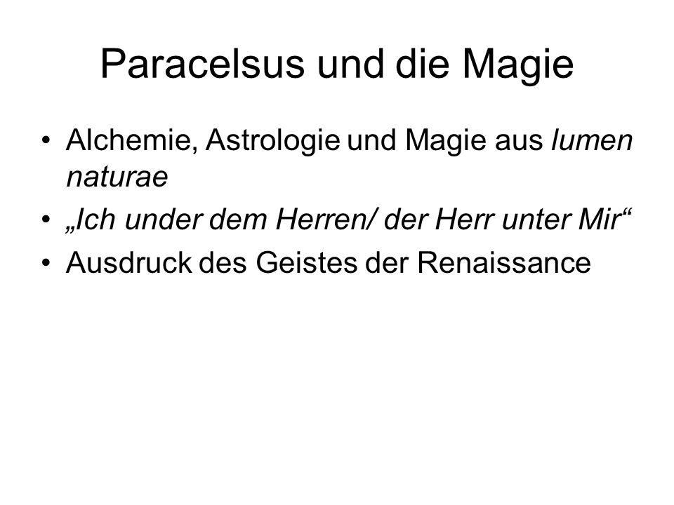 Paracelsus und die Magie