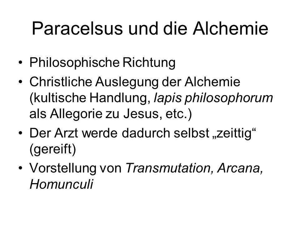 Paracelsus und die Alchemie