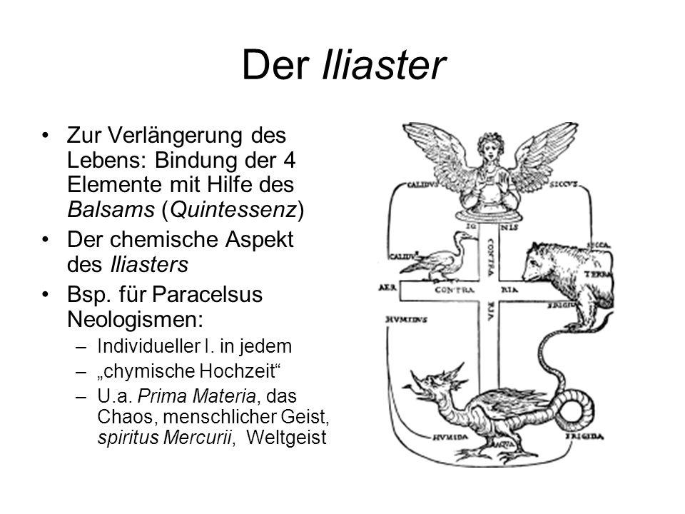 Der IliasterZur Verlängerung des Lebens: Bindung der 4 Elemente mit Hilfe des Balsams (Quintessenz)