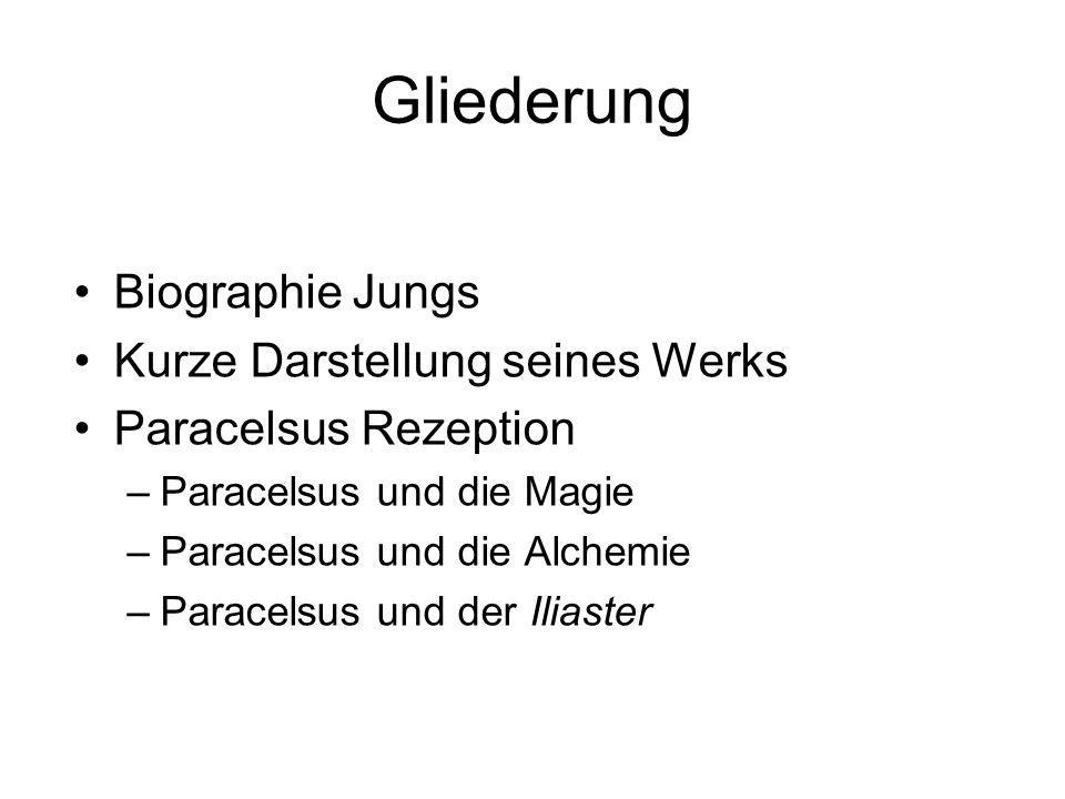 Gliederung Biographie Jungs Kurze Darstellung seines Werks