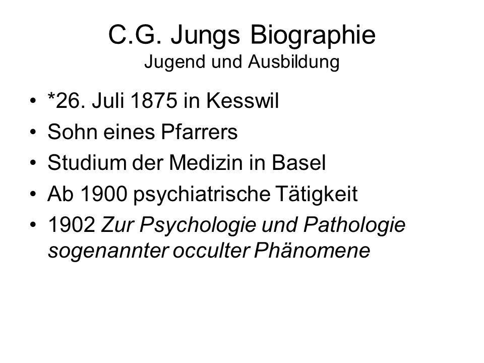 C.G. Jungs Biographie Jugend und Ausbildung