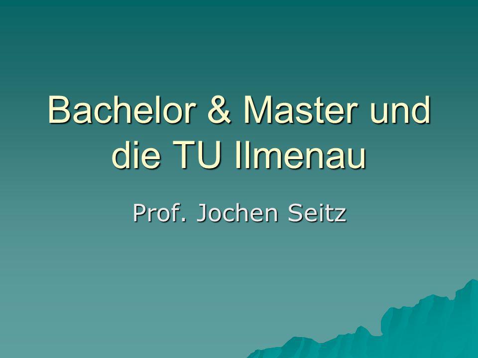 Bachelor & Master und die TU Ilmenau