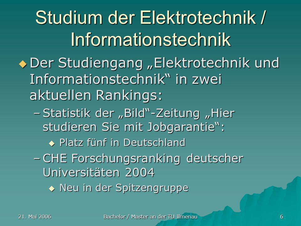 Studium der Elektrotechnik / Informationstechnik