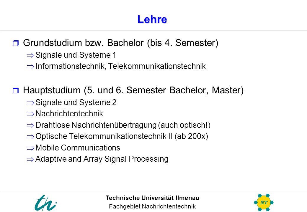 Lehre Grundstudium bzw. Bachelor (bis 4. Semester)