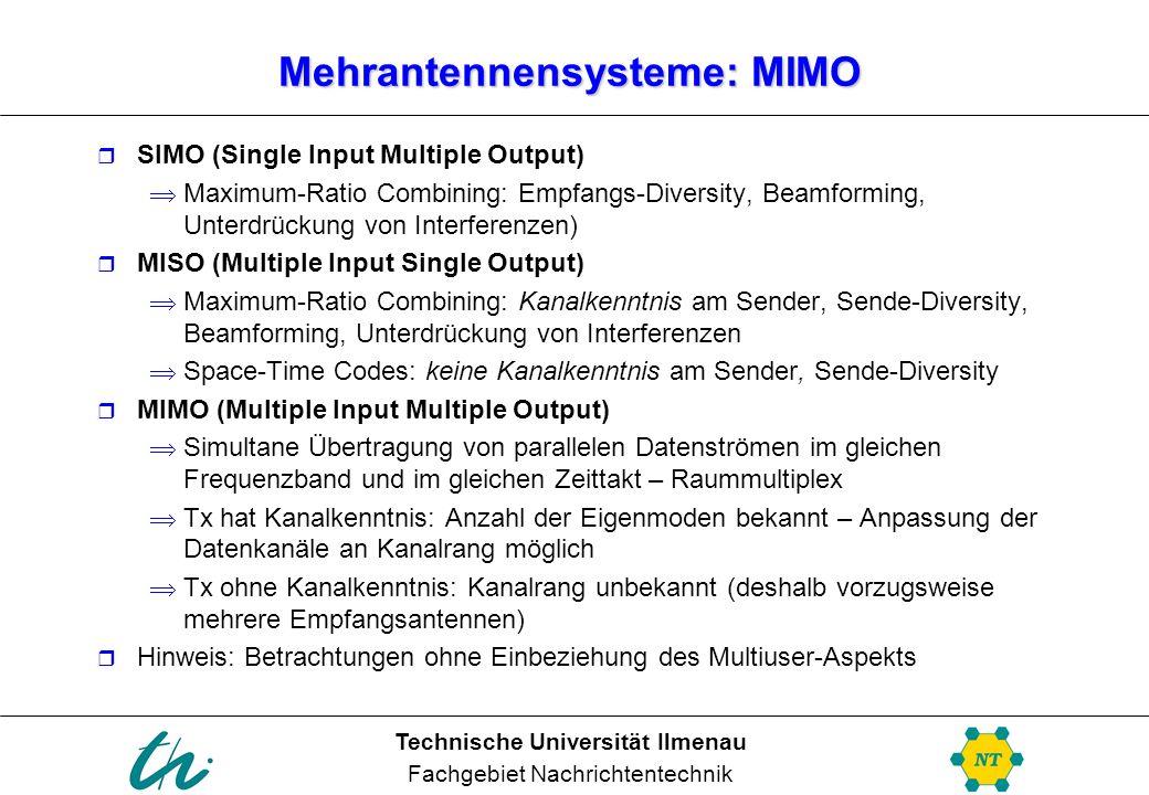 Mehrantennensysteme: MIMO