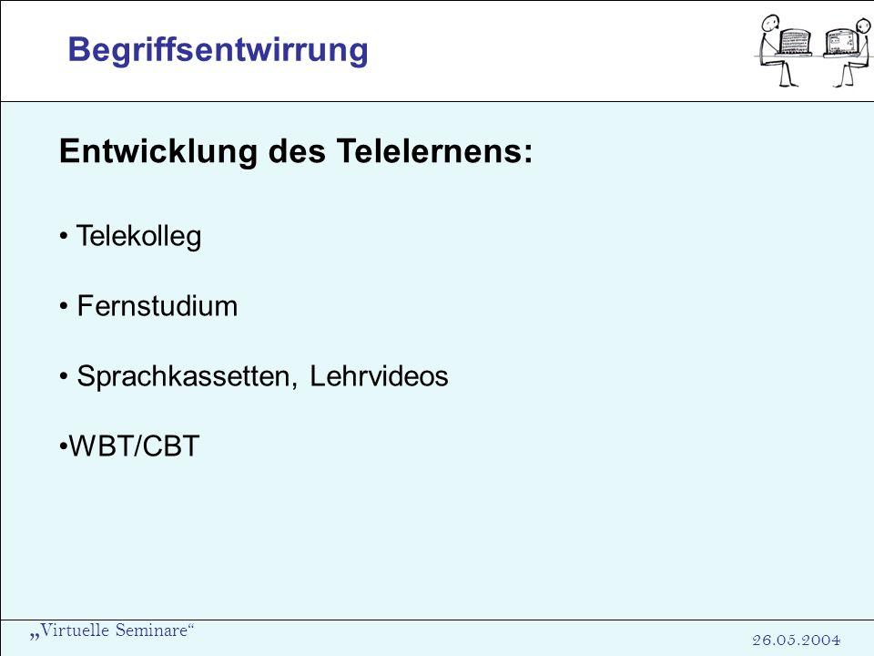 Entwicklung des Telelernens: