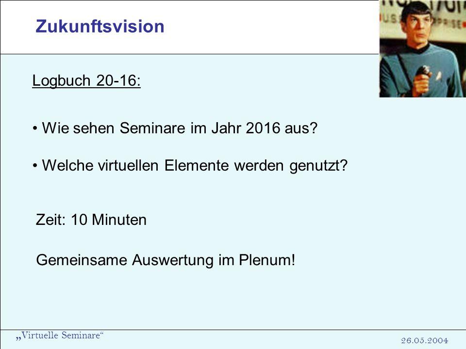 Zukunftsvision Logbuch 20-16: Wie sehen Seminare im Jahr 2016 aus