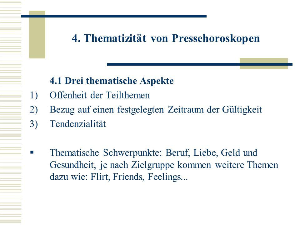 4. Thematizität von Pressehoroskopen