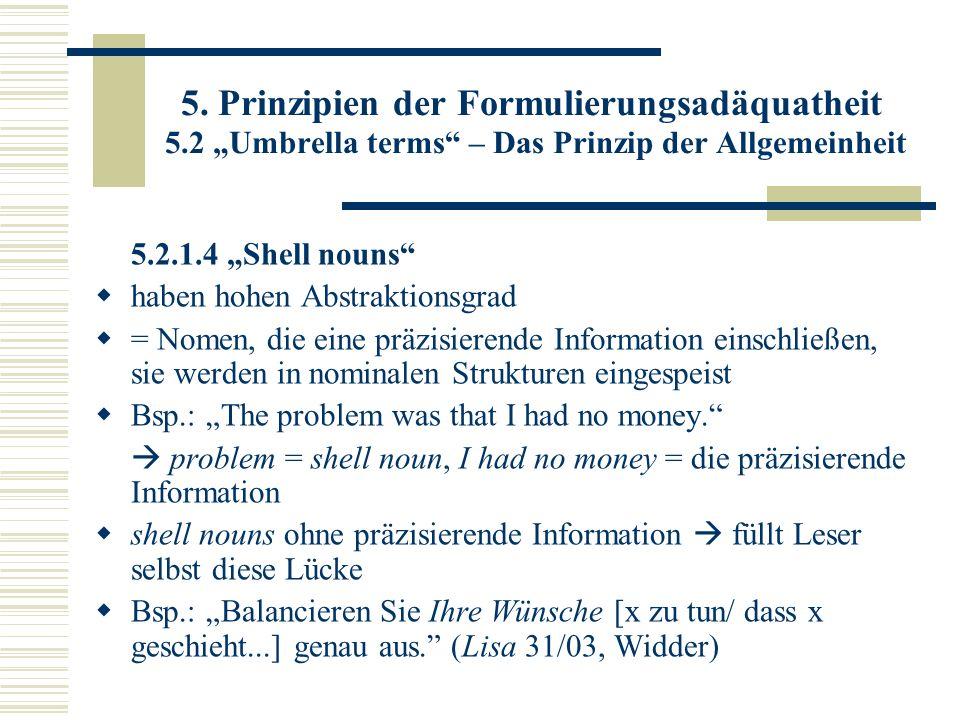 5. Prinzipien der Formulierungsadäquatheit 5