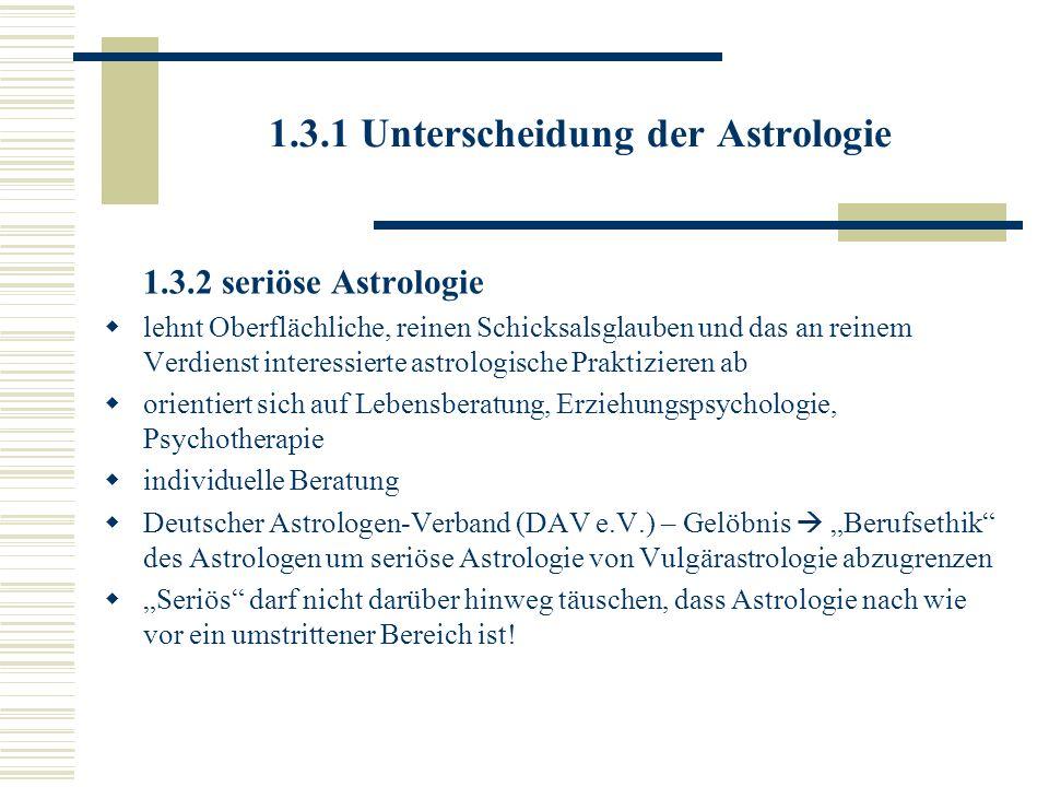 1.3.1 Unterscheidung der Astrologie