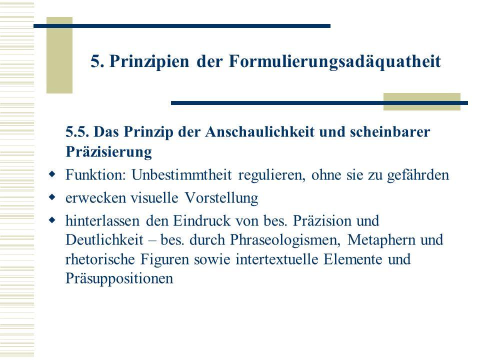 5. Prinzipien der Formulierungsadäquatheit