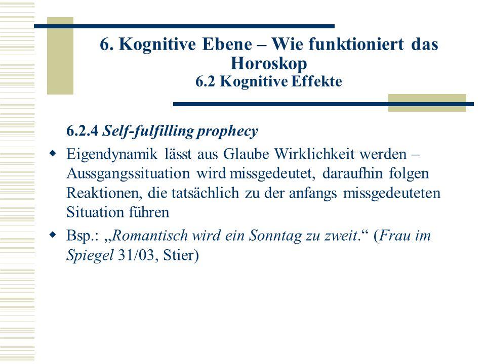 6. Kognitive Ebene – Wie funktioniert das Horoskop 6