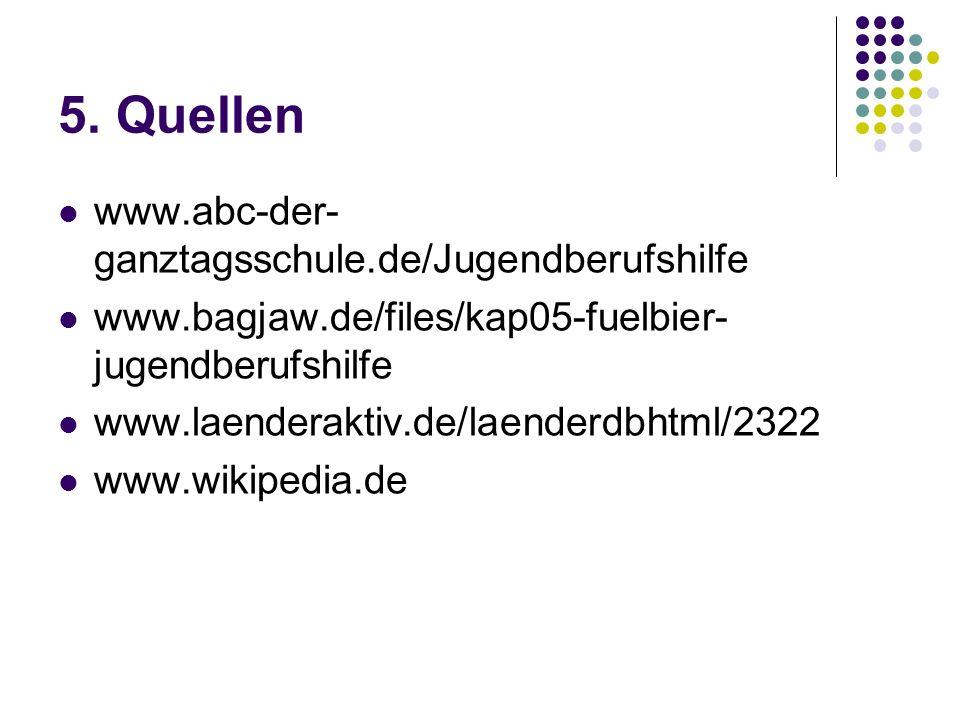 5. Quellen www.abc-der-ganztagsschule.de/Jugendberufshilfe