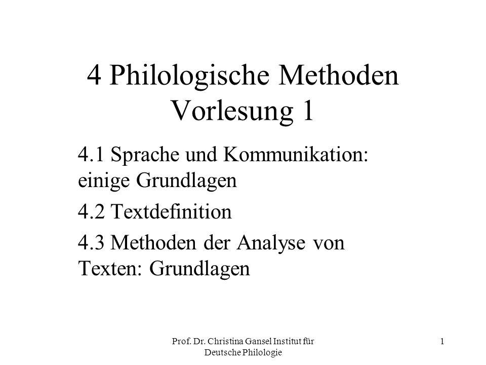 4 Philologische Methoden Vorlesung 1