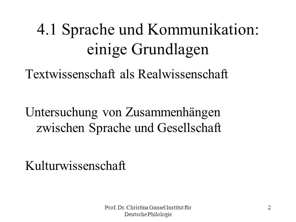 4.1 Sprache und Kommunikation: einige Grundlagen