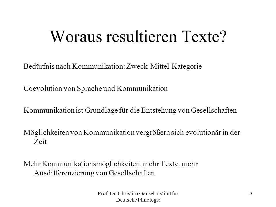 Woraus resultieren Texte