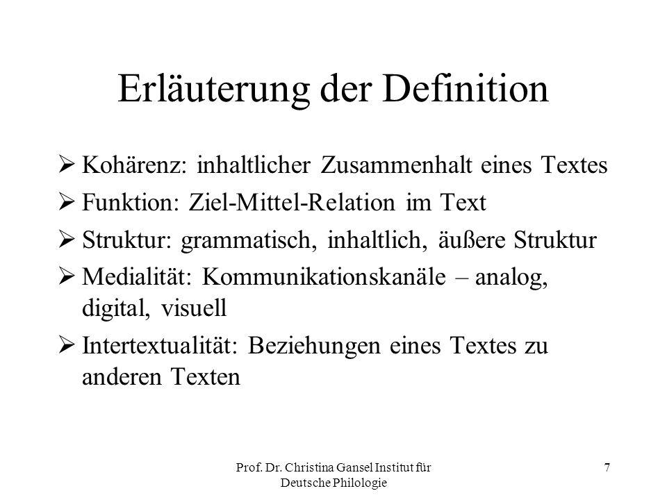 Erläuterung der Definition