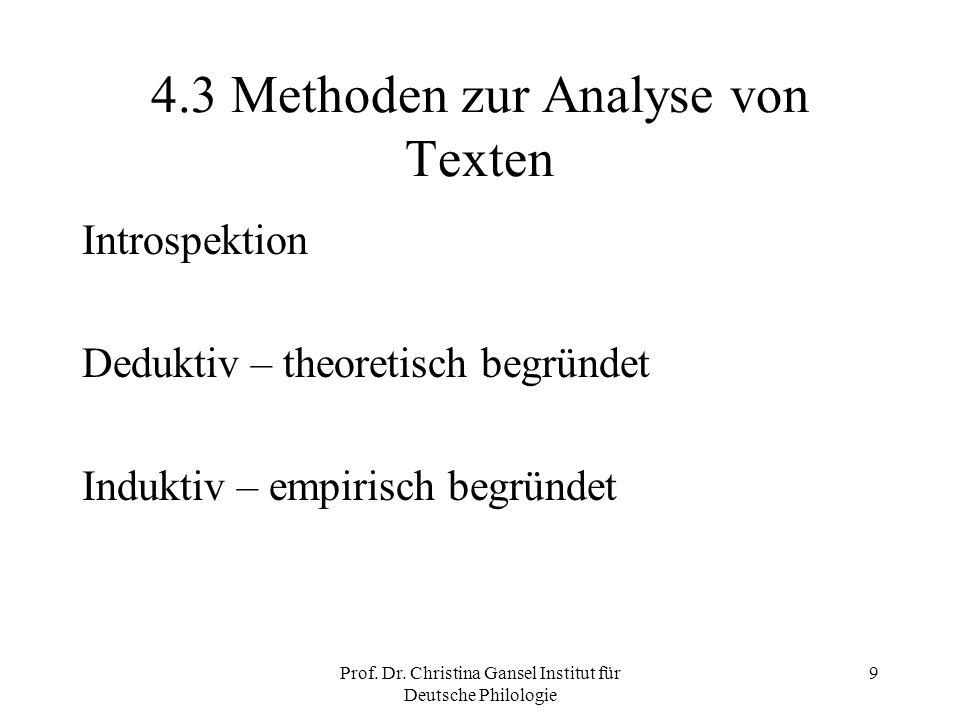 4.3 Methoden zur Analyse von Texten