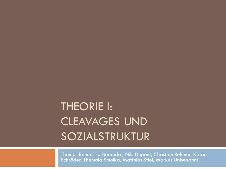Theorie I: Cleavages und Sozialstruktur