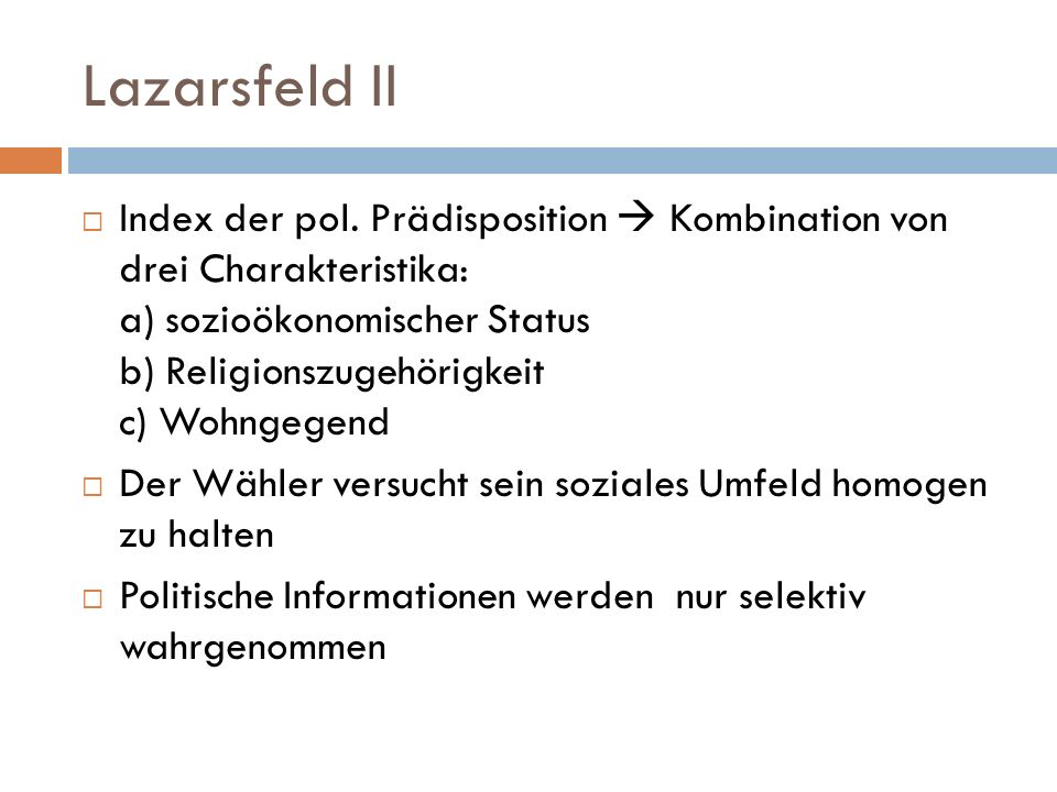 Lazarsfeld II