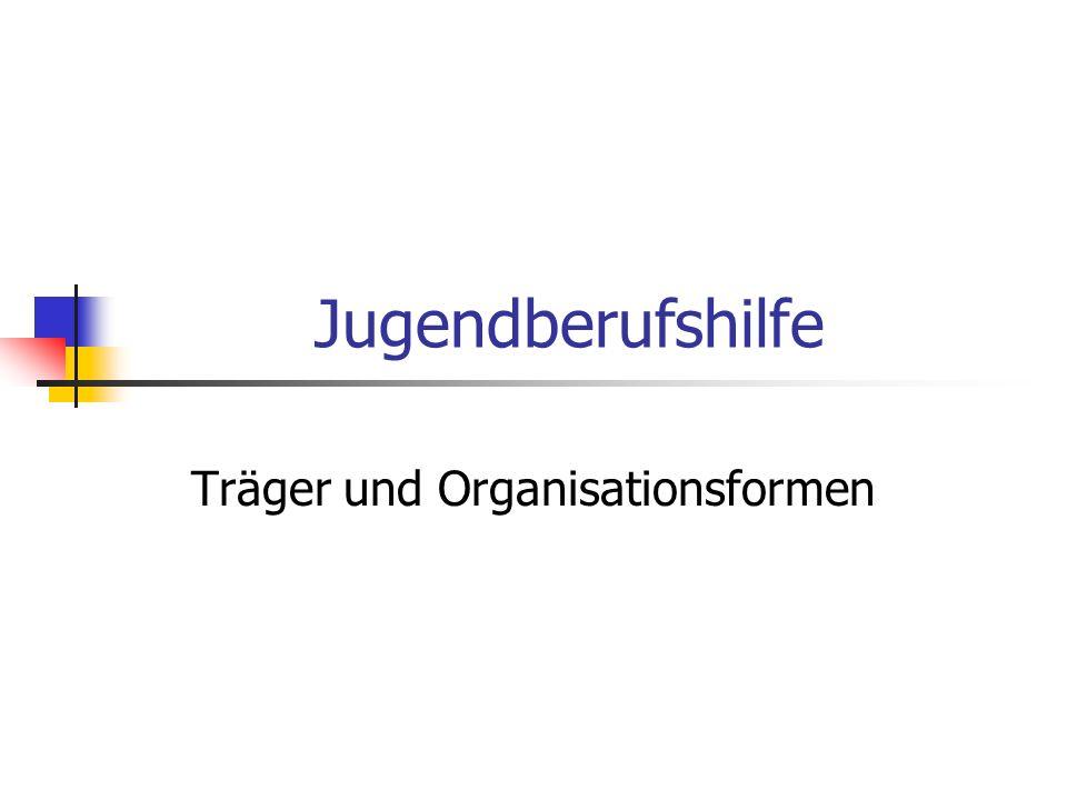 Träger und Organisationsformen