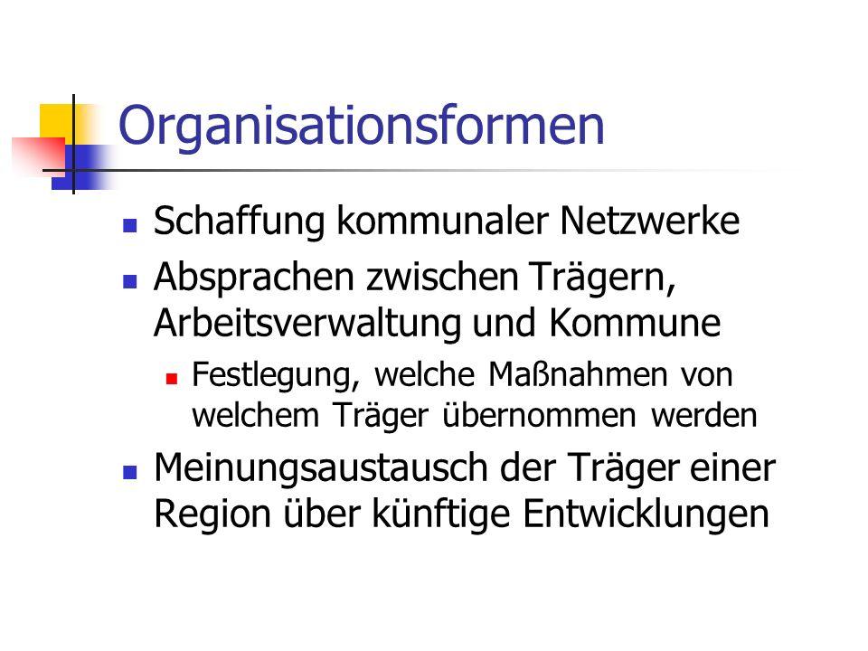 Organisationsformen Schaffung kommunaler Netzwerke