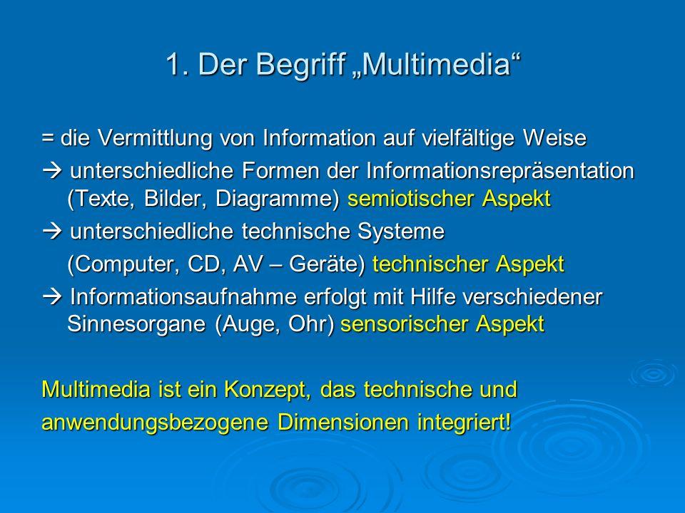 """1. Der Begriff """"Multimedia"""
