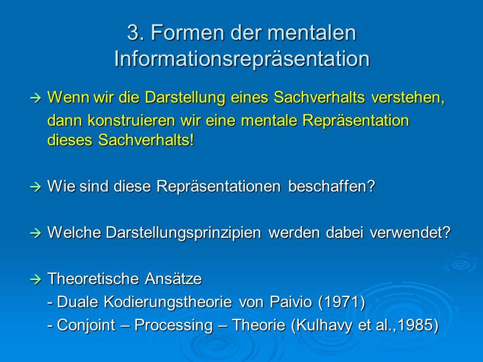 3. Formen der mentalen Informationsrepräsentation