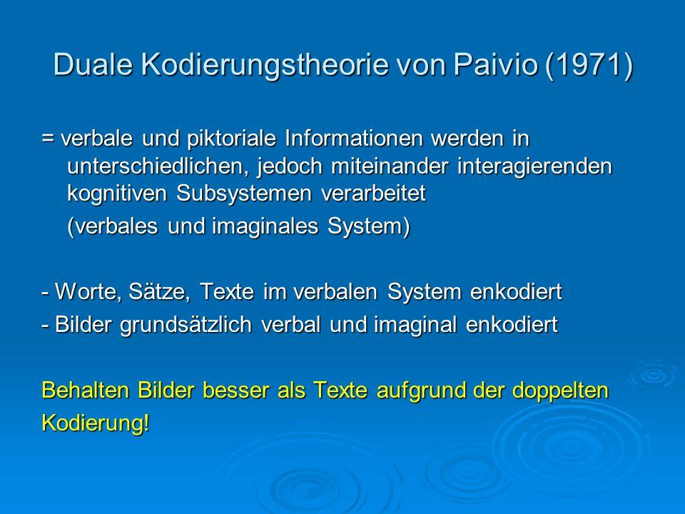 Duale Kodierungstheorie von Paivio (1971)