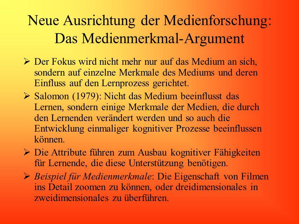 Neue Ausrichtung der Medienforschung: Das Medienmerkmal-Argument