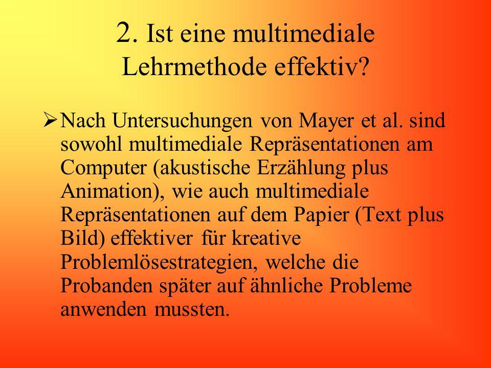 2. Ist eine multimediale Lehrmethode effektiv