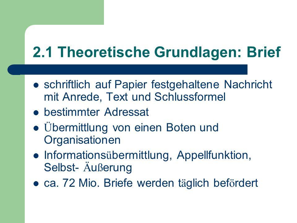 2.1 Theoretische Grundlagen: Brief