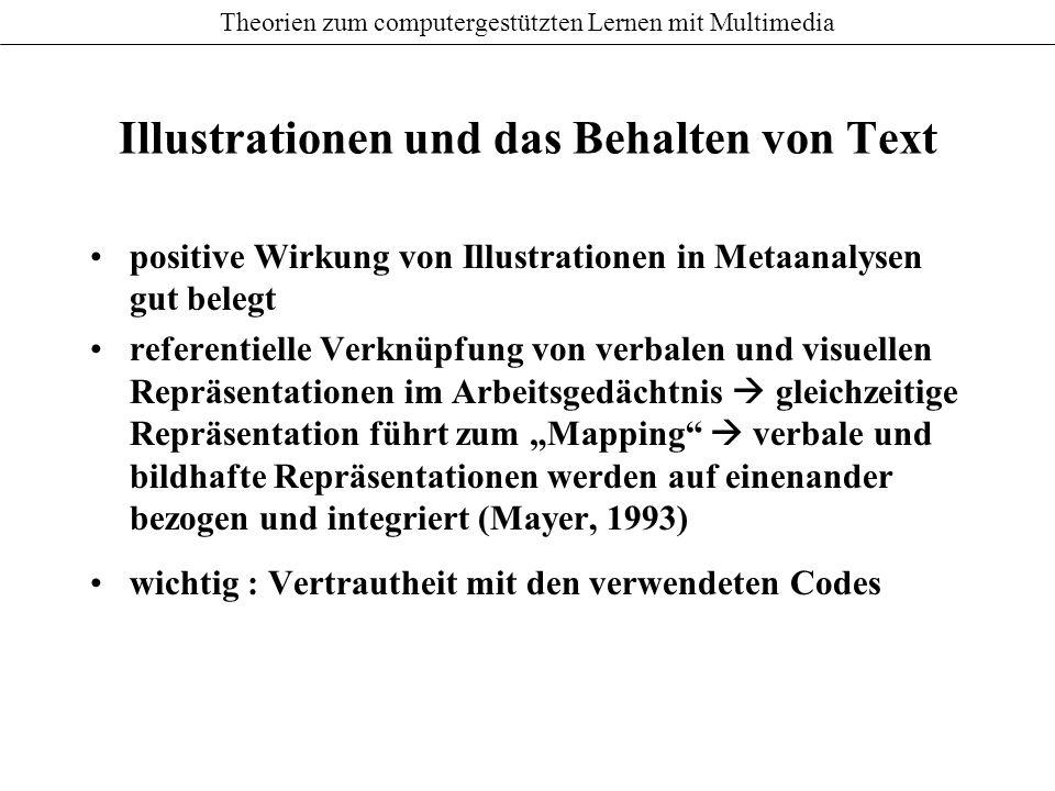 Illustrationen und das Behalten von Text