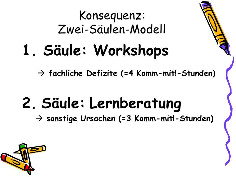 Konsequenz: Zwei-Säulen-Modell