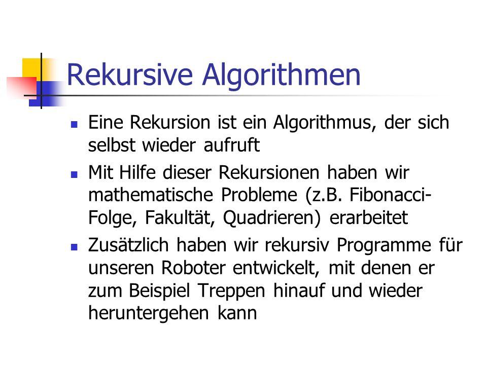 Rekursive Algorithmen