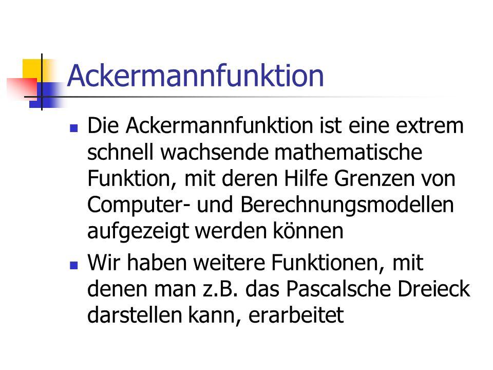Ackermannfunktion