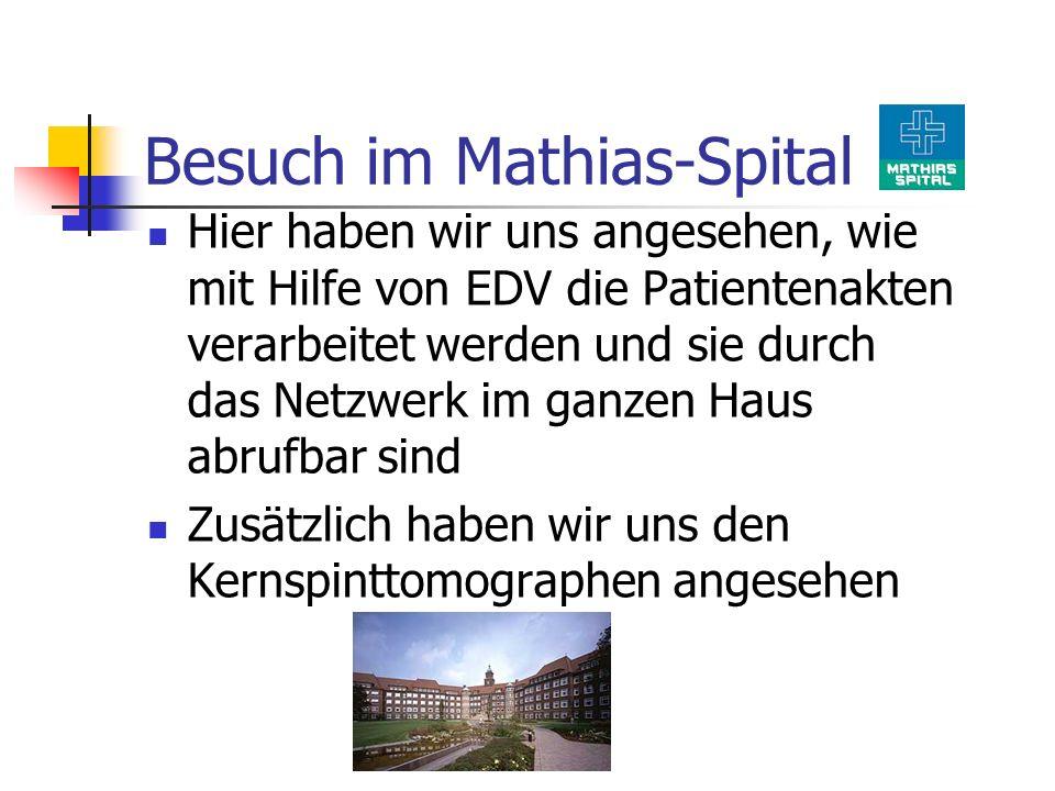 Besuch im Mathias-Spital