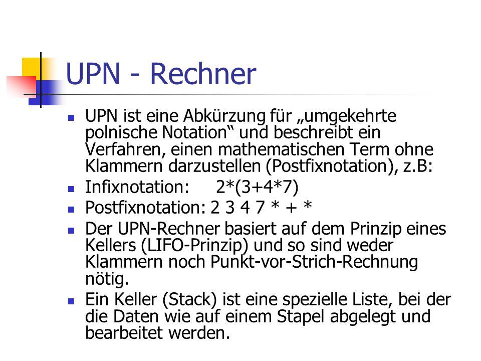 UPN - Rechner