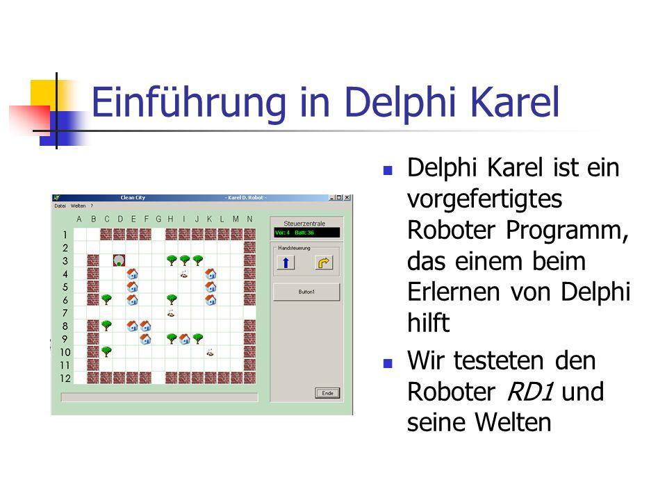 Einführung in Delphi Karel