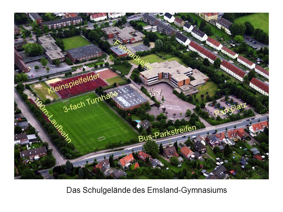 FahrradkellerKleinspielfelder.3-fach Turnhalle. Parkplatz.