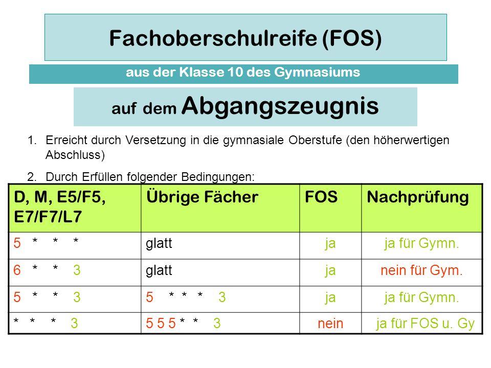 Fachoberschulreife (FOS)