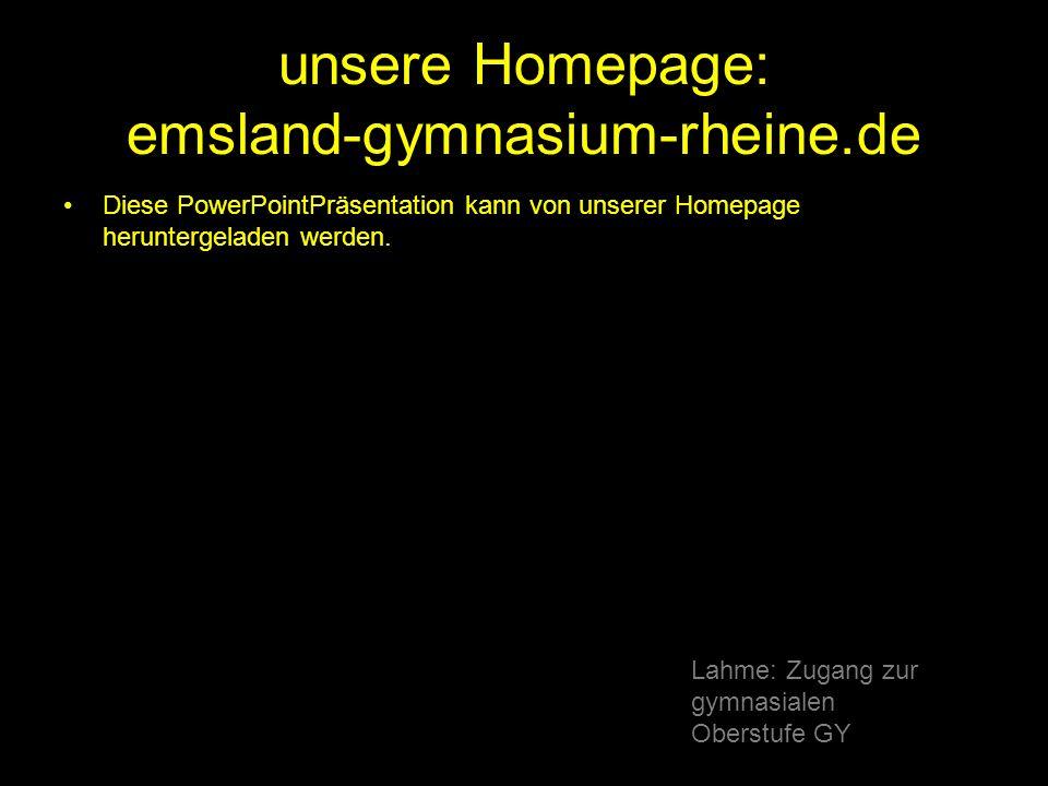 unsere Homepage: emsland-gymnasium-rheine.de