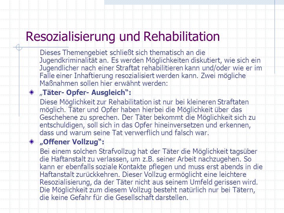 Resozialisierung und Rehabilitation