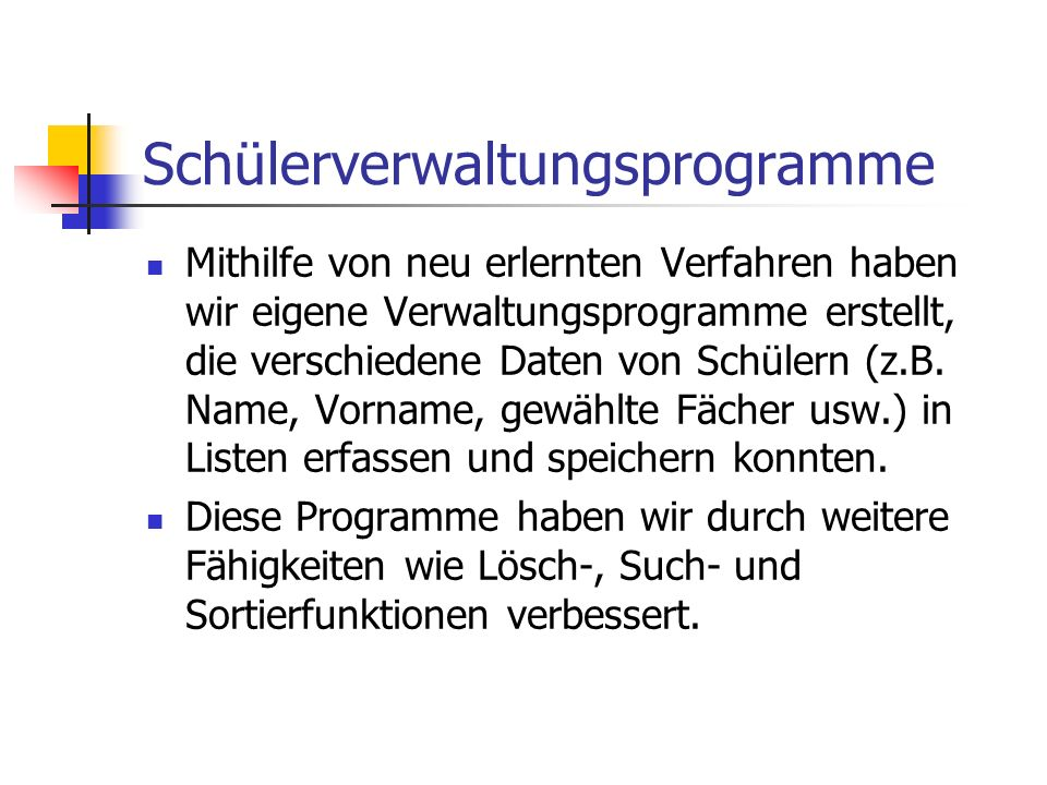 Schülerverwaltungsprogramme