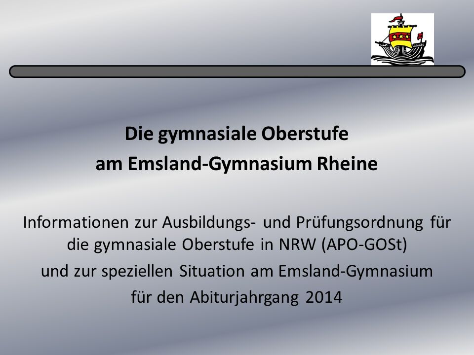 Die gymnasiale Oberstufe am Emsland-Gymnasium Rheine